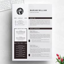 Modern Resume Ideas Resume Templates Design Modern Clean Resume Cv Template