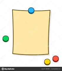 Blank Memo Or Note With Thumb Tacks Or Magnets Stock