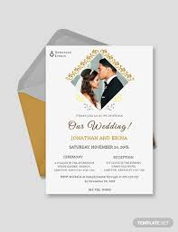 Wedding Invitation With Photo 24 Photo Wedding Invitations Ai Psd Indesign Word