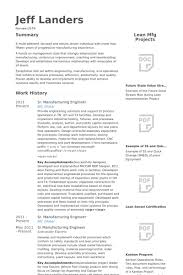 Manufacturing Engineer Resume Samples VisualCV Resume Samples Amazing Manufacturing Engineer Resume