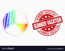 Rainbow Pie Chart Rainbow Colored Dotted Pie Chart Icon And Vector Image
