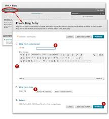 How To Create A Blog Blogs Blackboard Student Support