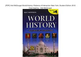 Patterns Of Interaction Pdf Best PDF] Holt McDougal World History Patterns Of Interaction New York