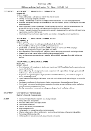 Sales Executive Account Executive Resume Samples Velvet Jobs
