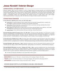 Interior Design Resume Objective Senior Designer Simple Format For ...