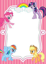 Small Picture Free Printable My Little Pony Invitations B day party