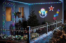 outside christmas lighting. Home Decorated With Christmas Lights Outside Lighting