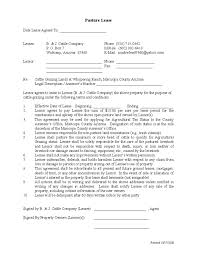 You can download and get commercial lease agreement template in the internet for free. Sample Pasture Lease Agreement Template Free Download