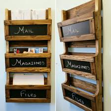 Photo 2 of 9 Reclaimed Pallet Wood 3 Pocket Vertical Wall Organizer With  Chalkboard. Mail Holder, File Holder