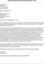 Cover Letter Flight Attendant Example No Experience Lezincdc Com