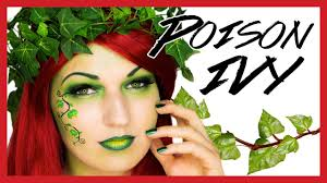poison ivy makeup costume tutorial