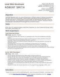 Certified Developer Resume Lead Web Developer Resume Samples Qwikresume