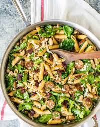 healthy chicken pasta recipes. Unique Chicken Sun Dried Tomato Pasta With Spinach Sausage And White Beans  A Super Easy Inside Healthy Chicken Recipes U