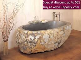home inspiration concrete chic spa baths stone bathtub and explore sink more decor granite forest