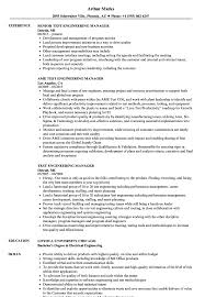 Test Engineering Manager Resume Samples Velvet Jobs