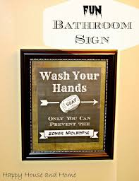 Decorative Bathroom Signs Home This Free Printable Makes The Cutest FUN Bathroom Sign Wash Your 15