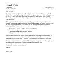 Exclusive Idea Sample Cover Letter Internship 5 Doc 630815 For