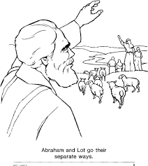 I like that the sheets are one sided so that i. Abram And Lot Coloring Pages Abraham And Lot Bible Crafts
