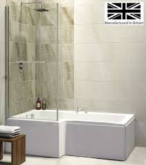 l shape shower baths