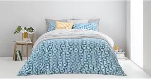 trio 100 cotton bed set king ocean teal silver grey uk bedding sets linen bed bath made com