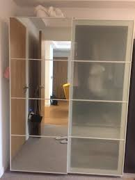 sold ikea pax wardrobe sliding doors