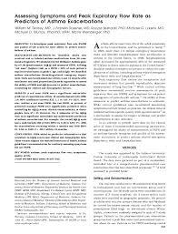 Pdf Assessing Symptoms And Peak Expiratory Flow Rate As