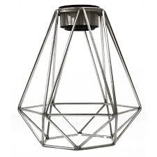 portfolio 6 in h 6 in w brushed nickel wire industrial geometric vanity light