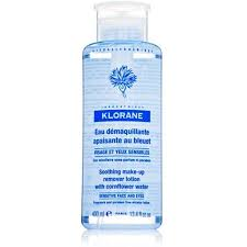 klorane soothing makeup remover with cornflower 13 4 fluid ounce image to