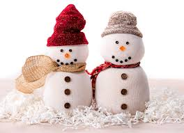 how to make a sock snowman craft