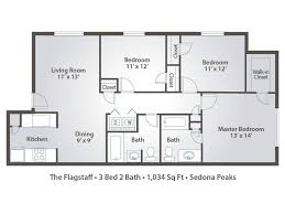3 bedroom apartments plan. 3 One Bedroom Apartments With Floor Plans 10 Plan M