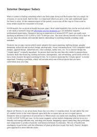 Interior Designer Vs Architect Salary Interior Designer Salary