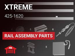 xtreme garage model 425 1620 rail embly parts