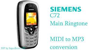 Siemens C72 Main Ringtone Theme - MIDI ...