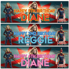 Personalized Superheroes Details About 2 Personalized Birthday Banner Superheroes Captain Mavel Children Party Poster