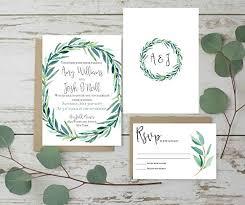 Envelope Wedding Wedding Invitations Set Rustic Wedding Invites Eucalyptus Wedding Invitation Set Of 10 Invitation Plus Envelope Only Matching Items Available