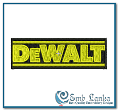 dewalt logo vector. dewalt logo vector embroidery design