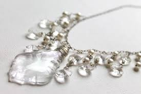 upcycled chandelier crystal necklace