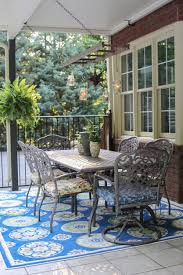 view in gallery patio rug 10 ways to make the most out of a small outdoor space