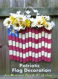 diy craft tutorial patriotic flag decoration for memorial day or 4th of july