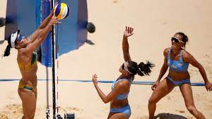 Beach Volleyball-Brazil double up over ...