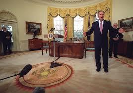 george bush oval office. Former President George W. Bush In The Oval Office March 2001 George Bush Oval Office E