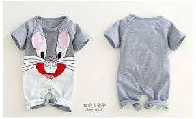 <b>Newborn baby</b> cotton rompers lovely Rabbit ears <b>baby boy girls</b> ...