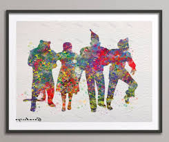 original watercolor wizard of oz canvas painting pop wall art intended for fashionable wizard of oz on wizard of oz wall art with gallery of wizard of oz wall art view 3 of 15 photos
