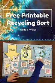 Interactive Charts For Preschool Free Recycling Sort Simply Kinder