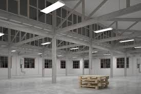 t5 led highbay light fixture in warehouse test image