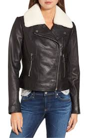 trouve fringe moto leather jacket 3 sam edelman starburst studded crop moto jacket 4 michael michael kors shearling moto jacket