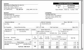 Formato De Factura De Exportacion Manual Gr Solucion Aduanera 5 8