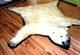 faux bear skin rug with head sophisticated fake polar for nursery f