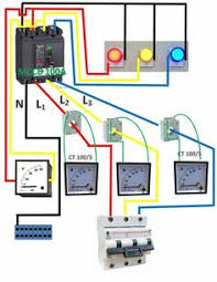 contactor wiring guide for 3 phase motor circuit breaker amp meter electronic engineering electrical engineering diy electronics electronics projects electrical wiring