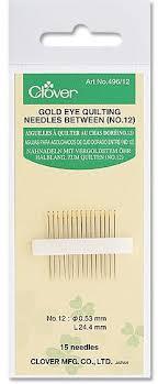 Clover Needlecraft Gold Eye Quilt Needles Size 12 496-12 ... & Gold Eye Quilt Needles Size 12 Adamdwight.com